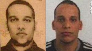 Cherif Kouachi, left, and Said Kouachi, right, are suspects in the Paris attack.