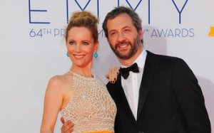 Leslie Mann & Judd Apatow walk the red carpet before attending the 64th Annual Primetime Emmy Awards in Los Angeles, California.