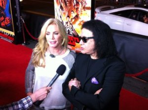 "Shannon Tweed and Gene Simmons at the premiere of ""Machete Kills"" on October 3, 2013."
