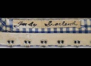 """The iconic blue gingham apron and shirt costume that Judy Garland wore as Dorothy in the 1939 classic """"The Wizard of Oz"""" sold for $1,565,000 at a New York auction."""