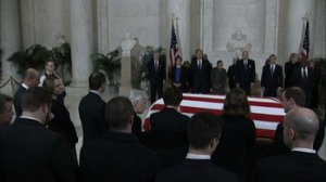 The body of late Justice Antonin Scalia is lying in repose on February 19, 2015 inside the Supreme Court building where he built a legacy as as a conservative legal icon.