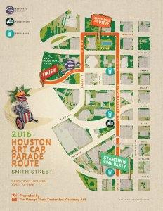 2016 Houston Art Car Parade Route
