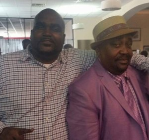 Terence Crutcher (left) with family member.