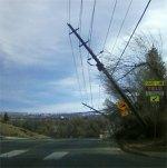 Boulder downed power poles