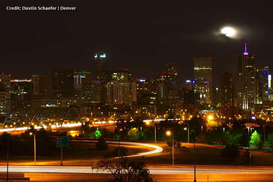 Denver Super Moon by Dustin Schaefer