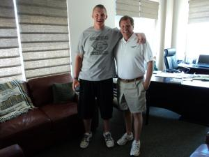 Zack Golditch with new Colorado State head football coach James McElwain