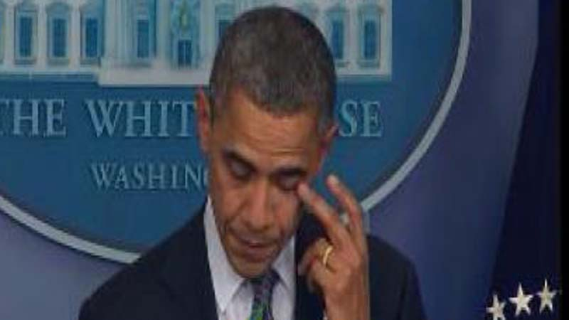 President Barack Obama addressing the nation after the Conn. school shooting.