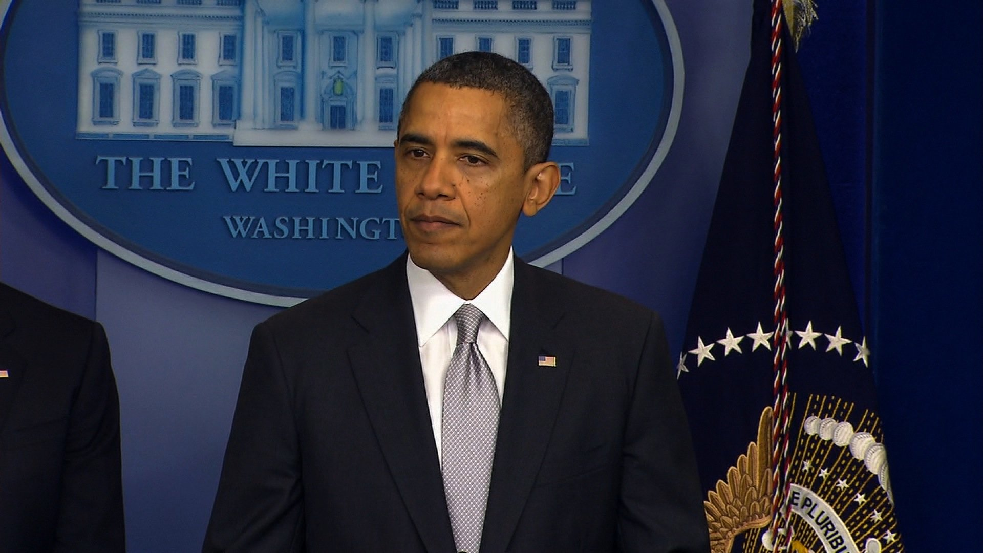 """President Barack Obama said Wednesday, December 19, 2012 in a statement to the press, that the vast majority of gun owners in America are responsible, but the more than 10,000 Americans killed every year by guns was """"violence we cannot accept as routine."""" """"We won't prevent them all, but that can't be an excuse"""" not to try, the president added."""