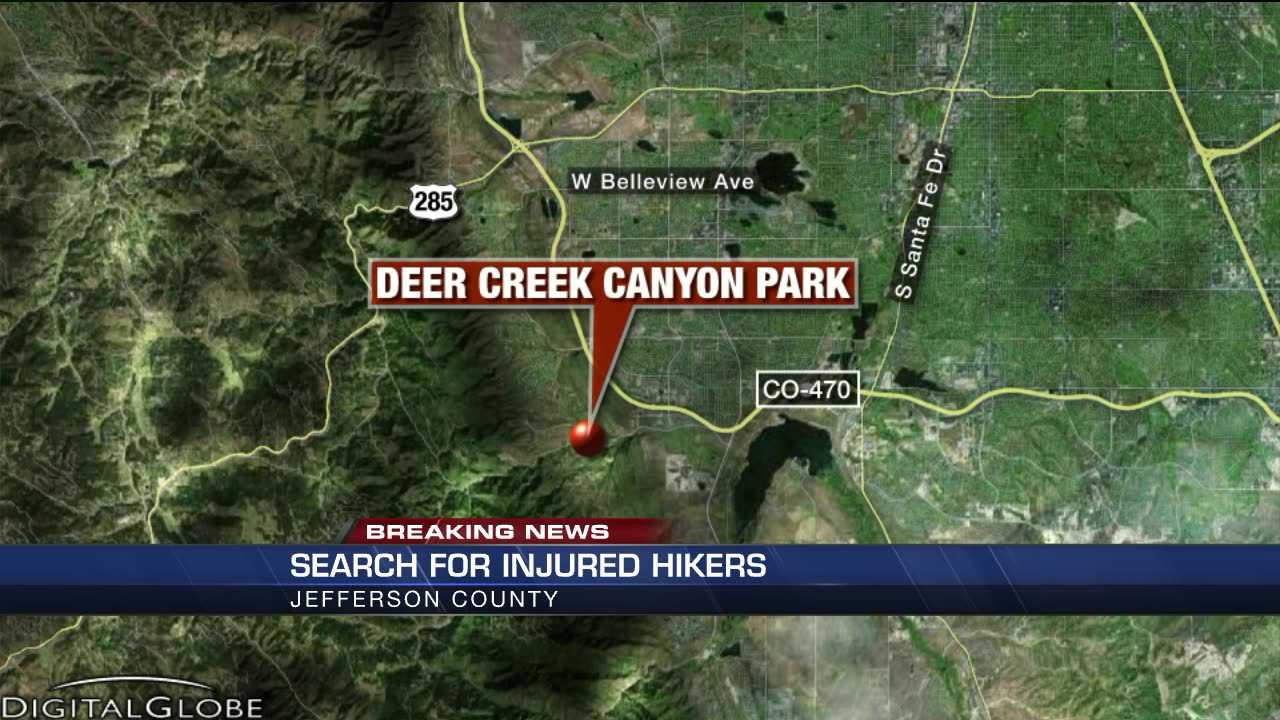 injured hiker map