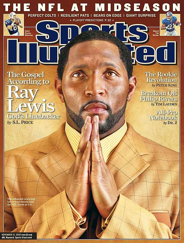 Ray Lewis appeared on the cover of Sports Illustrated in 2006, explaining how he truly found religion. (Photo: CNN)