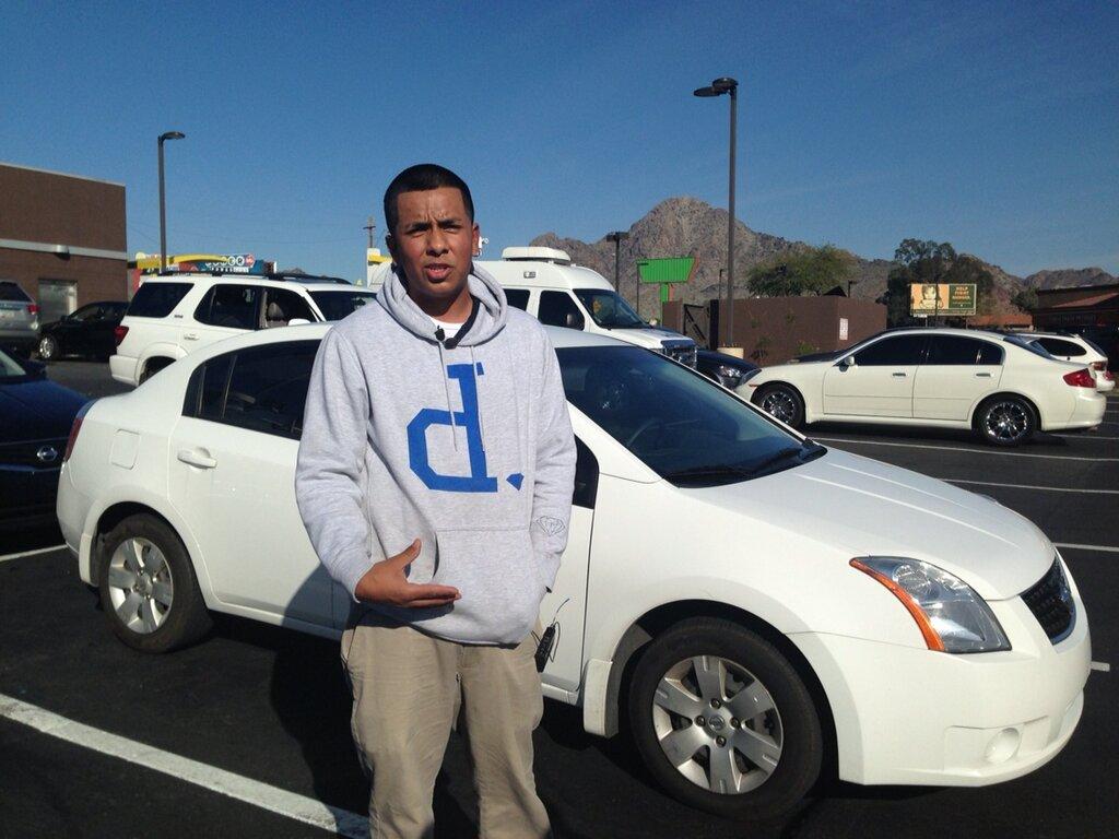 Oscar Bejar, 20, followed the Arizona office shooter using this car immediately following the crime. (Photo: KPHO)