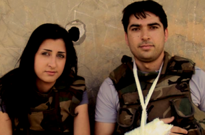 Syrian reporter Yara Abbas (left) was killed Monday as violence increased in the country. (Credit: Syria Report Facebook)