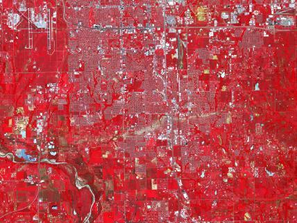 NASA image taken June 2, 2013 shows Moore, Okla. tornado path.