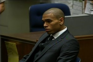 Singer Chris Brown appears in court on charges he assaulted his then-girlfriend, pop star Rihanna. (Credit: CNN)