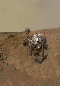 Curiosity Rover makes a self portrait at 'John Klein' drilling site