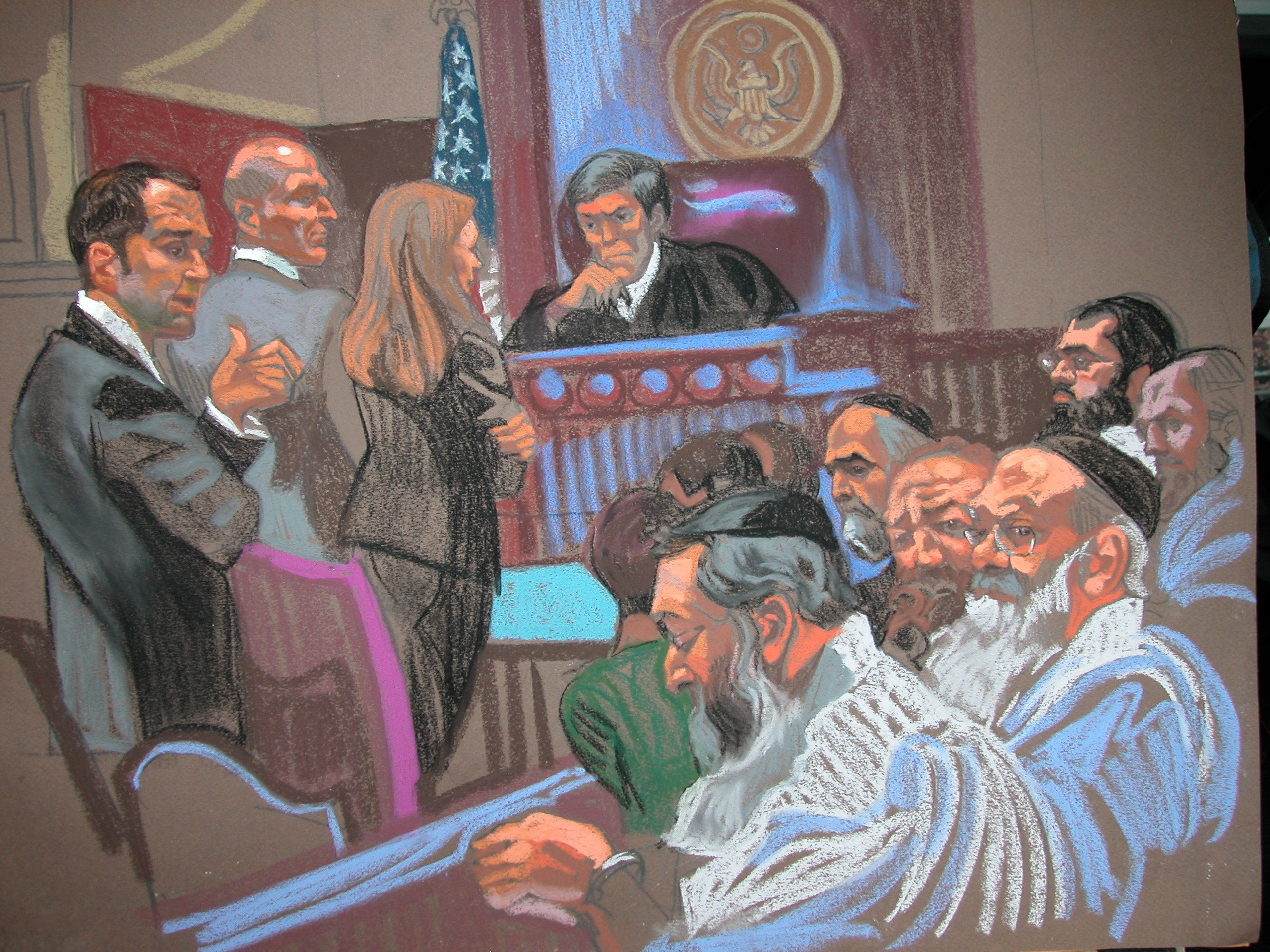 A group of rabbis face kidnapping charges after allegedly arranging assaults of Orthodox Jewish husbands to persuade them to grant divorces to their wives, authorities said Thursday, October 10, 2013. FBI raids on Wednesday night led to the arrest of three rabbis who were arraigned in federal court in New Jersey Thursday, according to court documents.