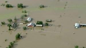 Linda Baker's farm after during the September flood.