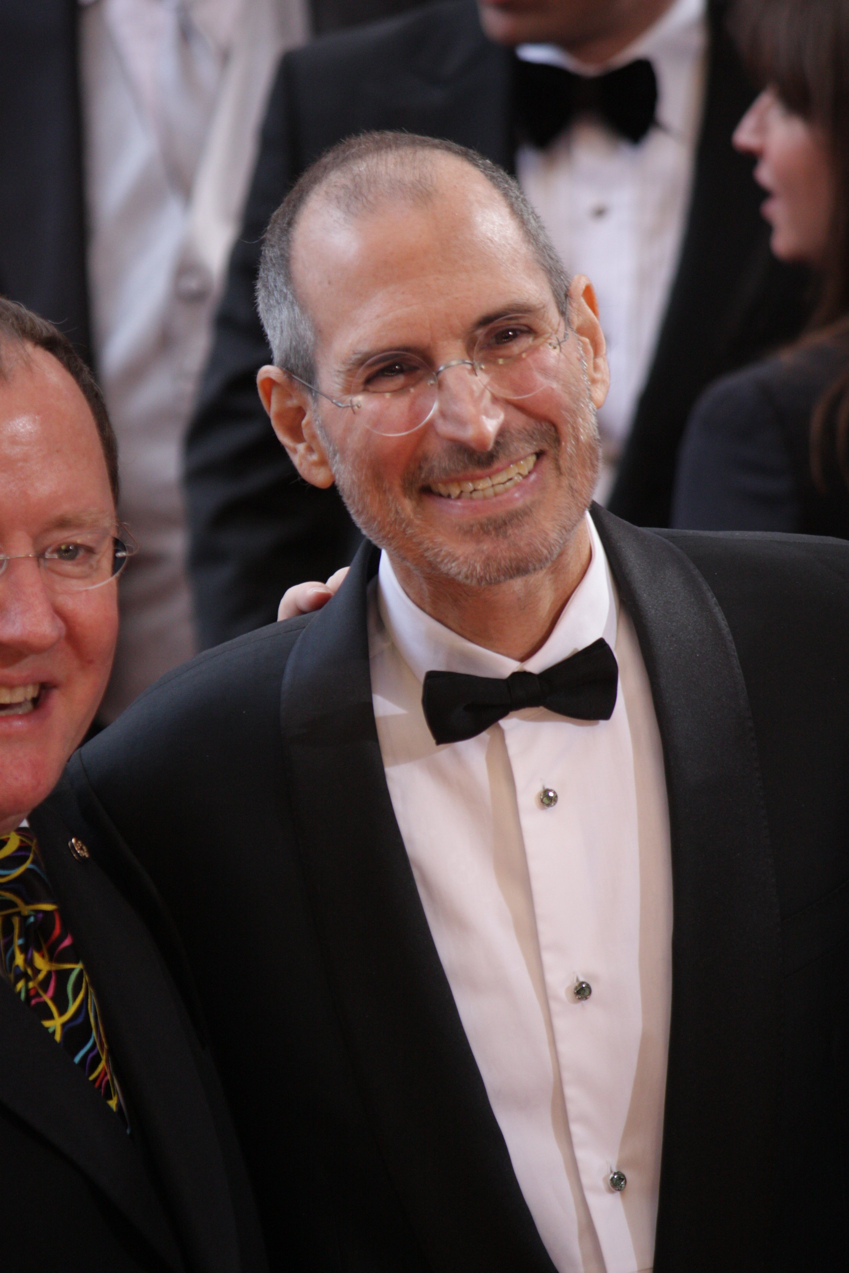 Apple founder, Steve Jobs, on the red carpet of the 82nd annual Academy Awards.
