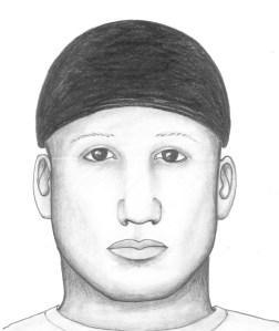 Police sketch of suspect (Credit: CU Boulder Police Department)