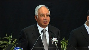 """Malaysian Prime Minister Najib Razak said Malaysia Airlines Flight 370 went down over the southern Indian Ocean, """"far from any possible landing sites,"""" on March 24, 2014."""