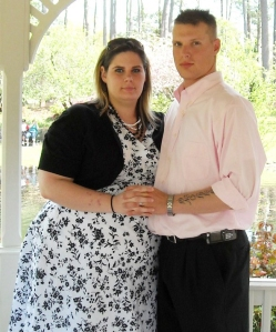 Misty and Larry Shaffer met in high school and later married in 2008. They are seen here in 2009. At her heaviest, Misty Shaffer weighed about 300 pounds.