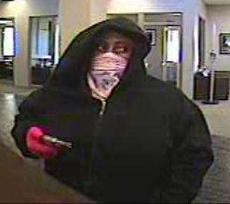 The suspect is seen at the April 4 robbery.