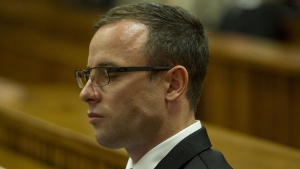 Paralympian Oscar Pistorius is seen at the high court in Pretoria, South Africa. (Credit: CNN)