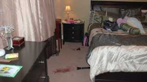 Crime scene photograph of Ashley Fallis' bedroom.