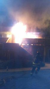 Three families were displaced after an early-morning apartment fire in Aurora on Wednesday, May 21, 2014. (Credit: Aurora Fire Department)