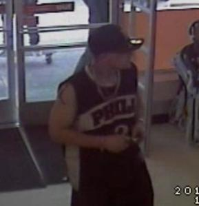 Police are searching for the man pictured above who they say robbed a Denver dollar store on May 18, 2014. (Photo: DPD)