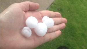 Hail in the Corey Merrill neighborhood in SE Denver (Photo: Heather Mills)