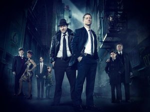 """Ben McKenzie (center, right) stars in Fox's """"Gotham"""" as a young Jim Gordon before he became Police Commissioner."""