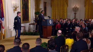 Kyle White, a former Army sergeant who withstood Afghan insurgent fire to save his fellow warriors' lives, was awarded the Medal of Honor on Tuesday, May 13, 2014, by President Barack Obama at the White House.