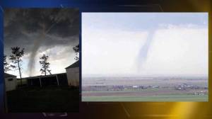 A tornado formed over Roggens, Colo. Friday afternoon. (Photo: Jamie Graybill, SkyFOX)