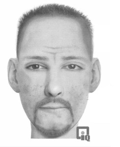 A composite sketch of a man Commerce City Police say tried to abduct an 11-year-old boy at Pioneer Park on Wednesday, Oct. 15, 2014. (Credit: Commerce City Police Department)