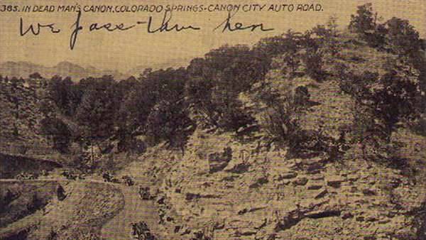 Dead Man's Canyon in the early 1900s (Credit: Flickr / Mary Ellen)