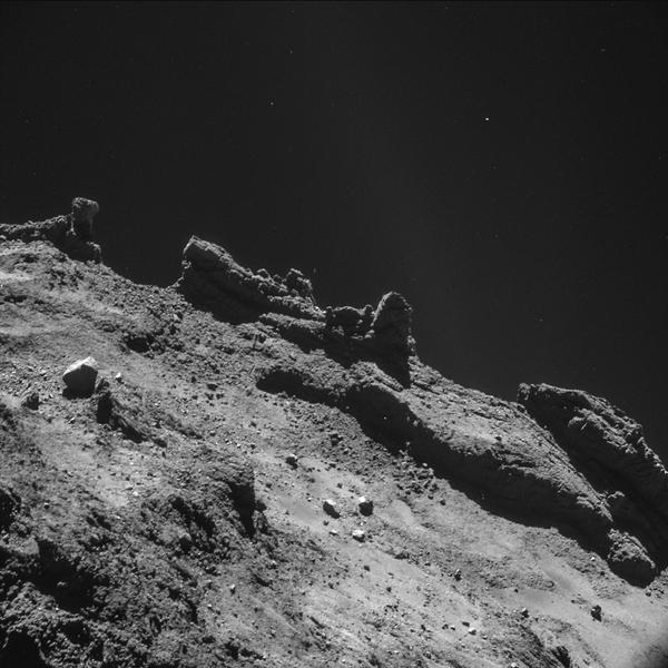 Comet 67P/Churyumov-Gerasimenko. Photo courtesy: European Space Agency/NASA