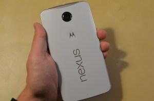 Back of Google Nexus 6 by Motorola