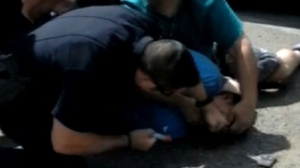 Video obtained by FOX31 Denver shows a Denver Police officer repeatedly punching an unarmed man in the face.