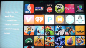Google Play Store on Google Nexus Player