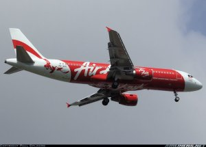 Air traffic controllers lost contact with AirAsia Flight QZ8501, an Airbus A320-216 passenger jet, early Sunday, Dec. 28, 2014. This photo depicts the exact aircraft missing and was taken before the disappearance.