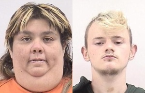18-year-old Jeremy Lewallen and his 42-year-old wife Carrie Carley