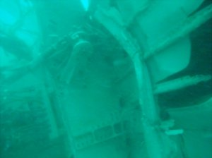 The Indonesia Search and Rescue Agency, or BASARNAS, released this underwater photograph of the tail section of AirAsia Flight QZ8501. The section of plane was found by divers in the Java Sea Wednesday morning, Jan. 7, 2015.
