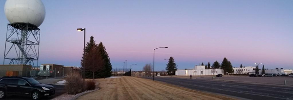 Contrail of a meteor seen in Cheyenne, Wyo., on Wednesday, March 11, 2015. (Photo: Becca Mazur)