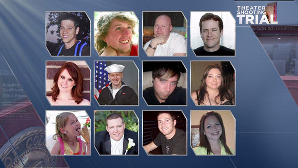 Twelve people were killed in the Aurora theater shooting on July 20, 2012.