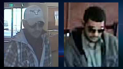 Two surveillance images of the Longhorn bandit