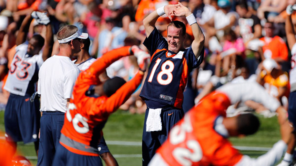 After missing out last year, fans will be allowed to watch quarterback Peyton Manning and the Broncos in training camp practices this year beginning July 31, the team announced. (Photo: Doug Pensinger/Getty Images)