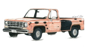 A northern Colorado task force released a sketch of pickup it says is a vehicle of interest in connection to a string of random shootings in the area.