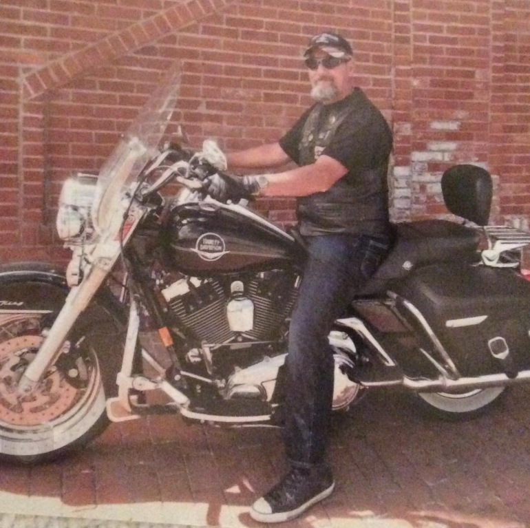 Robert Jacobs and his Harley Davidson Motorcycle. (Photo: Douglas County Sheriff's Office)