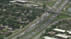 Traffic delays on I-70 near Ward Rd